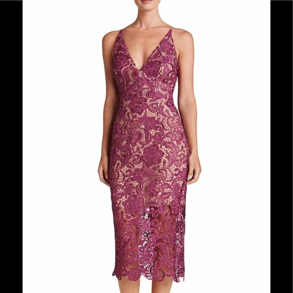 aaa3e35d4ba Dress the Population Marie Lace Midi Dress XL NWT
